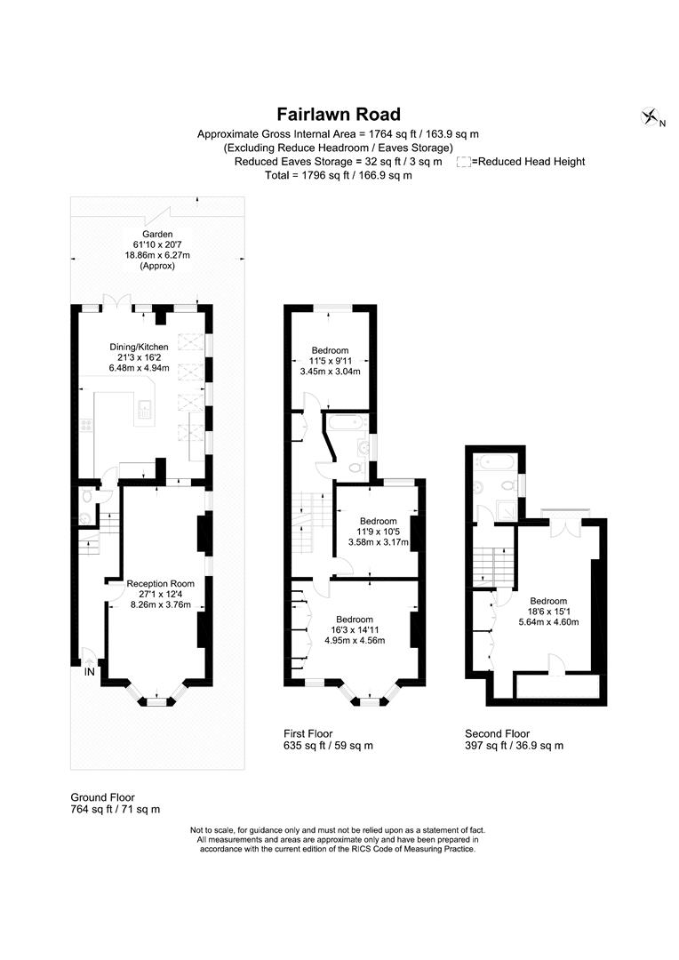 Floorplan for Fairlawn Road, Wimbledon